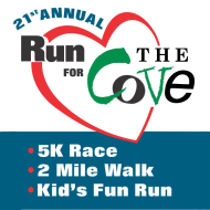 Run for The Cove 2018 - 5K, 2M Memorial Walk & Kids' Fun Run