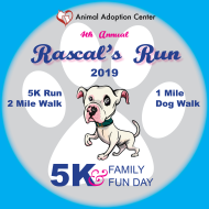 Rascal's Run 5k, 5K Race Chair, 2-mile Fun Walk & 1-mile Dog Walk - September 7, 2019