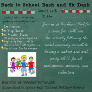 Back to School Bash and 5k Dash