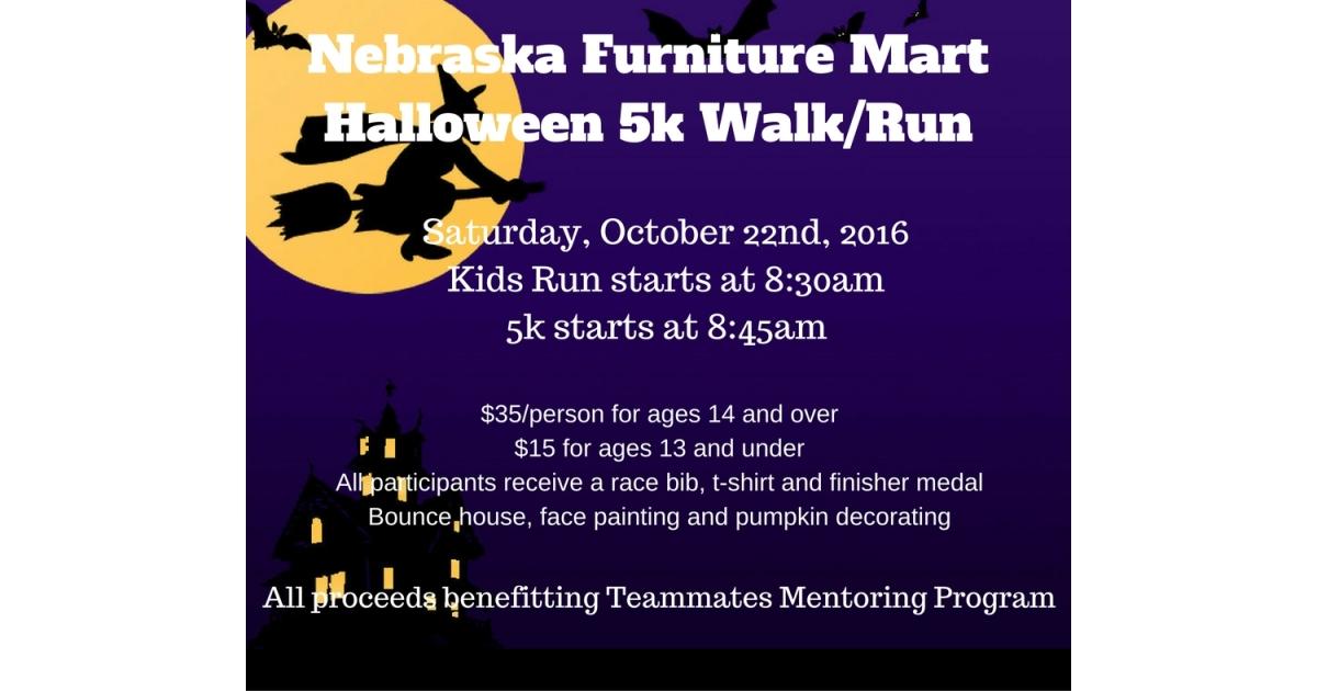 Nebraska Furniture Mart 5k Run Walk Halloween Run Omaha