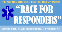 "Freehold EMS 2nd Annual ""Race for Responders"" - CANCELLED"