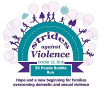 Strides Against Violence Purple Bubble Run