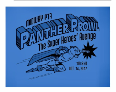 Midway PTA Panther Prowl: Super Heroes Avenge