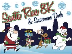 santa run 8k snowman dash - Snowman Santa