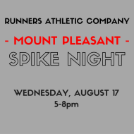 Runners Athletic Co. Spike Night - Mount Pleasant