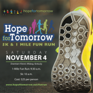 HOPE FOR TOMORROW 5K & 1 MILE FUN RUN