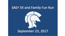SAEF Family Wellness 5K Run/Walk  --  Walk in registration also accepted starting 6:45AM on Saturday; online registration is closed.