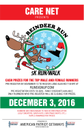 Care Net Reindeer Run 5K & Walk Sponsored by American Patriot Getaways