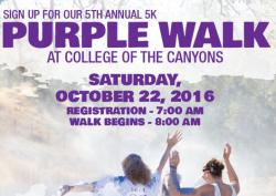 Purple Walk of Strength 5k for the Domestic Violence Center of Santa Clarita Valley