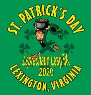 Virtual 2020 Leprechaun Leap 5K Race - Run/Walk Friday September 25, 2020 through Sunday September 27, 2020 Lexington, VA