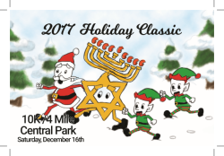 2017 Central Park Holiday Classic produced by Mile Square Consulting and Urban Athletics