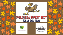 Dahlonega's 5th Annual Thanksgiving Day Turkey Trot 5k and Fun Run