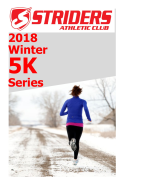 2018 Chautauqua Striders Winter 5K Series