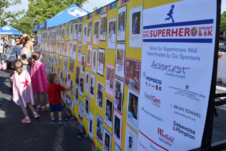 Defeat DIPG Superhero Sprint & 6K: Salute Your Superhero Wall