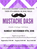Colleges Against Cancer 4th Annual Mustache Dash 5k