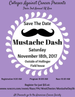 Colleges Against Cancer 3rd Annual Mustache Dash 5k