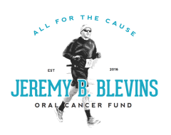 The Jeremy B. Blevins Oral Cancer Fund Race For The Cause 5k/10k, Saturday February 10, 2018, 9am