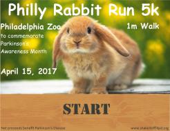 Philly Rabbit Run 5k/1m @ Philadelphia Zoo for Parkinson's