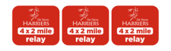 Harriers 4x2 Mile Relay & Food Drive