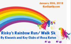 Ricky's Rainbow Run 5k by Kiwanis/ Key Clubs of Boca Raton