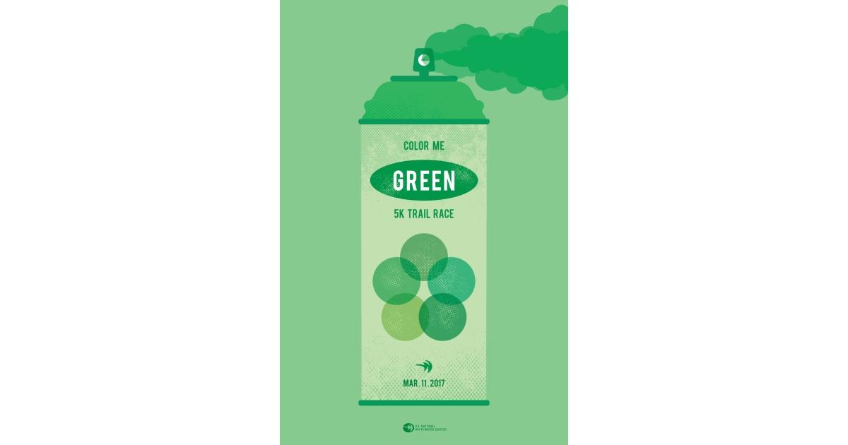 color me green 5k trail race