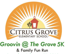 Citrus Grove Elementary's Groovin' at the Grove Virtual 5K Presented by Trinity United Methodist Church, Stetson Baptist Church and Family Health Source