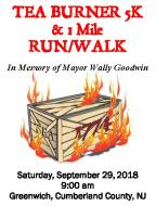 Tea Burner 5K & 1 Mile Run/Walk