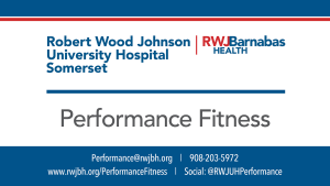 RWJUH Sports Physical Therapy & Performance Center