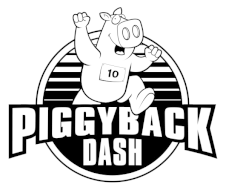 The Piggyback Dash 10K, 5K, 1 Mile presented by Cregger Family Dentistry Logo