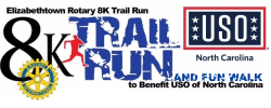 Elizabethtown Rotary 8K Trail Run & Walk to benefit USO of North Carolina