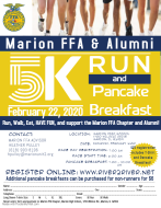 VIRTUAL Marion FFA and Alumni Blue & Gold 5k and 100 Mile Challenge
