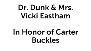 Dr. Dunk & Mrs. Vicki Eastham