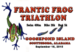 Frantic Frog Sprint Triathlon - 17th annual
