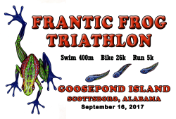 Frantic Frog Sprint Triathlon - Postponed until 2019