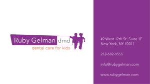 Ruby Gelman DMD PLLC, Dental Care For Kids