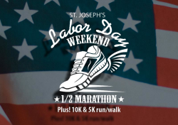 St. Joseph's Labor Day 1/2 Marathon, 10K and 5K run/walk