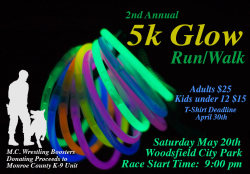 2nd Annual Glow Run - Woodsfield Ohio