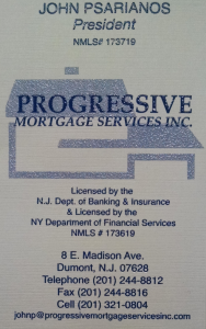 Progressive Mortgage Services Inc