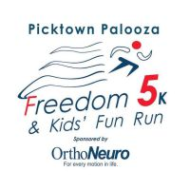 The Freedom 5k and Kids' Fun Run, sponsored by OrthoNeuro