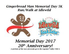 Gingerbread Man Memorial Day 5K Run/Walk at Idlewild