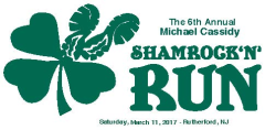 6th Annual Michael Cassidy Shamrock 'N' Run 5k