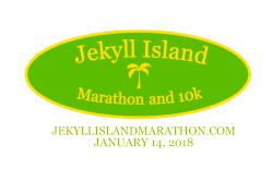 Jekyll Island Marathon and 10k