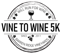 Vine to Wine 5K at Barren Ridge Vineyards