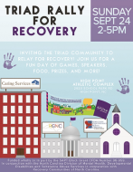 Triad Rally for Recovery 2017 Organized by Caring Services
