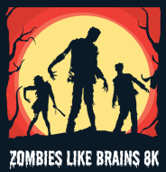Zombies Like Brains 8k and 1 Mile Zombie Walk for DIPG Awareness