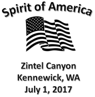 Spirit of America Run, 2.5 Miles, Zintel Canyon