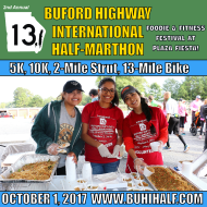 Buford Highway International Half Marathon, 10K, 5K and 2-Mile Strut - Plus 13-Mile Bike Ride