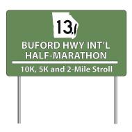 Buford Highway International Half Marathon, Team Relay, 10K, 5K and 2-Mile Stroll - Plus 13-Mile Bike Ride