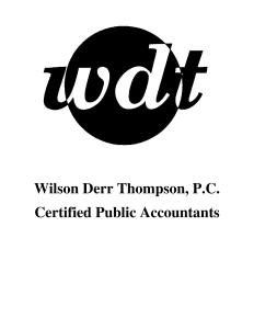 Wilson Derr Thompson, P.C.