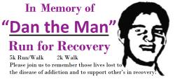 Dan The Man Run for Recovery